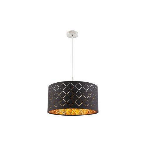 Lampa wisząca Globo Clarke 15229H lampa sufitowa zwis 1x60W E27 czarna / złota (9007371355013)