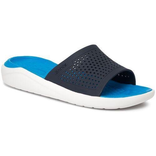 Klapki CROCS - Literide Slide 205183 Navy/White, kolor niebieski