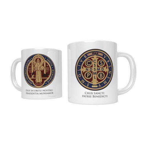 Kubek religijny z medalem świętego Benedykta
