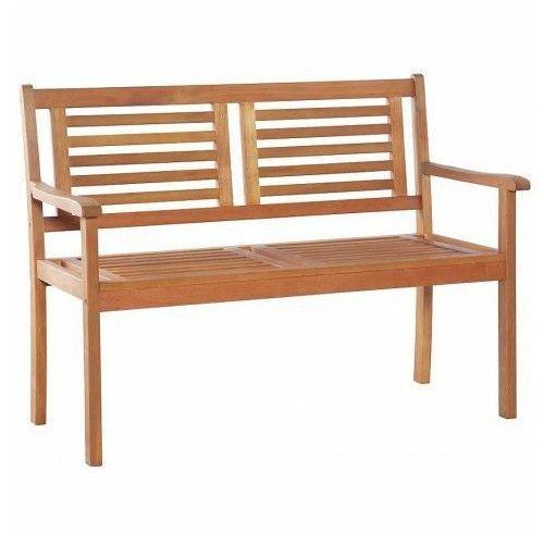 Drewniana ławka ogrodowa infis - brązowa marki Producent: elior