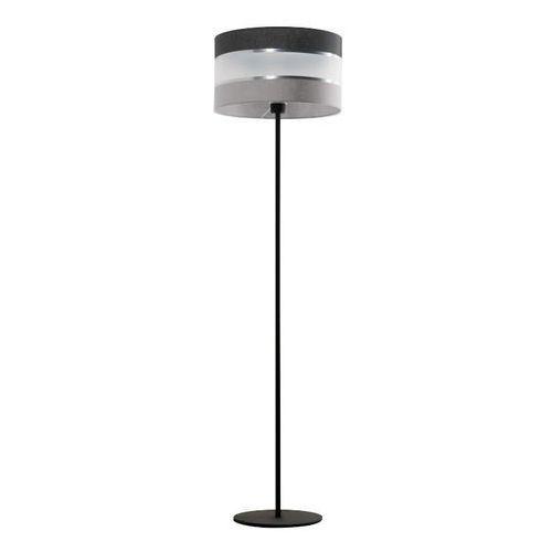 Lampex Donato 853/ST lampa podłogowa stojąca 1x40W E27 czarny / srebrny (5902622125527)