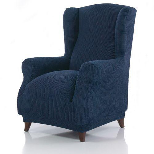 Pokrowiec multielastyczny na fotel Uszak Cagliari niebieski, 70 – 110 cm