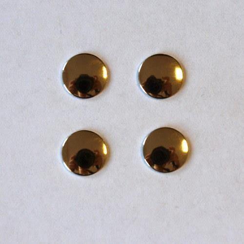 Pentart Dżety hot fix okrągłe 3 mm/100szt. - złote - 3mm
