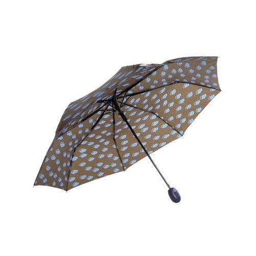 Perletti Parasol krótki niebieski