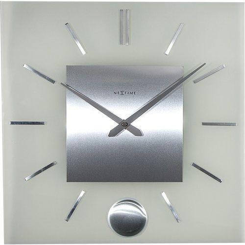 Zegar ścienny Stripe Pendulum kwadratowy