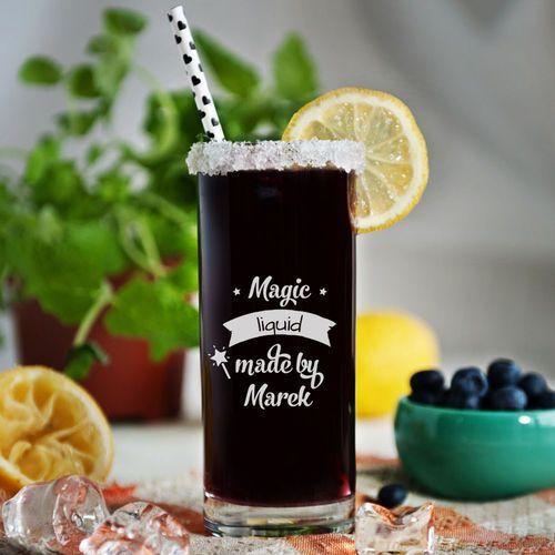 Magic liquid - grawerowana szklanka do drinków - szklanka marki Mygiftdna