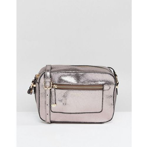 mia metallic across body bag - grey marki Carvela