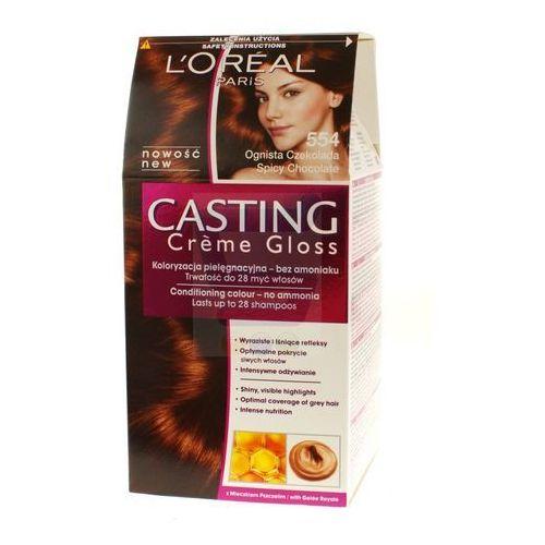 Loreal Paris Casting Creme Gloss Farba do włosów bez amoniaku Ognista Czekolada nr 554, kolor czekolada