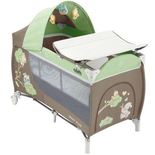 Cam łóżeczko turystyczne daily plus - brązowo-zielone, 225