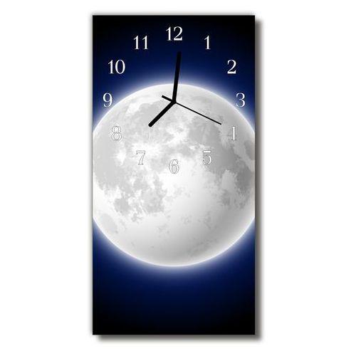 Zegar Szklany Pionowy Wszechświat Księżyc kosmos kolorowy, kolor wielokolorowy