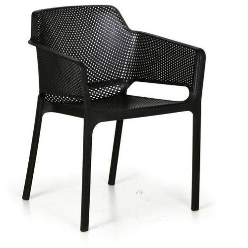 B2b partner Fotel ogrodowy rustic, czarny, 3+1 gratis