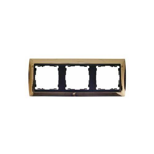 Simon 82 ramka potrójna uniwersalna metal lity złota/ ramka pośrednia grafit 82834-66 marki Kontakt-simon s.a.