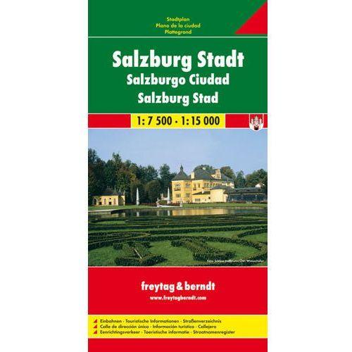 Salzburg 1:7 500-1:15 000. Plan miasta. Freytag&Berndt, oprawa twarda