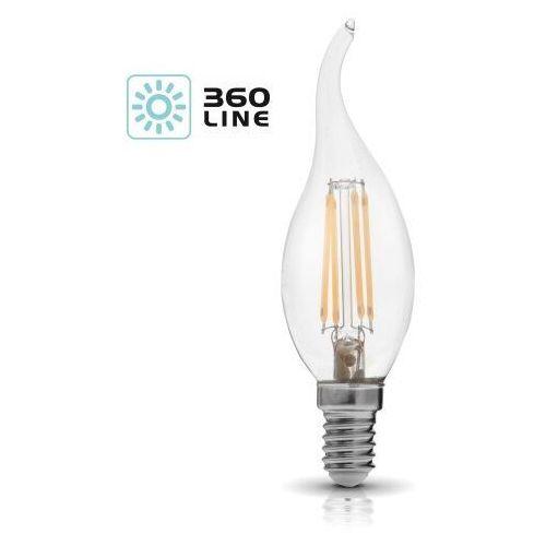 Żarówka LED E14 FDE 4W barwa CIEPŁOBIAŁA 5900605095768 - Kobi Light - Rabat w koszyku
