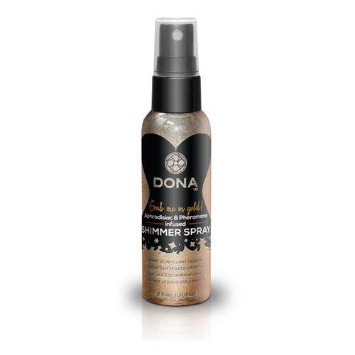 Spray do skóry - liż i całuj feromony - Dona Shimmer Spray Złoty