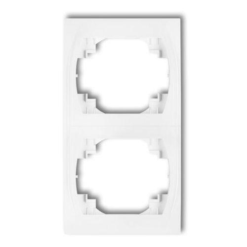 Karlik elektrotechnik sp. z o.o. Logo ramka pionowa podwójna grafitowy 11lrv-2 (5901832006978)