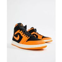 Nike 1 mid trainers in orange 554724-081 - orange, Air jordan