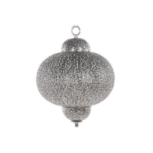 Beliani Lampa wisząca metalowa srebrna tyne (4260624111063)