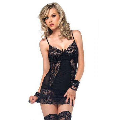 Chemise and matching g-string marki Legavenue