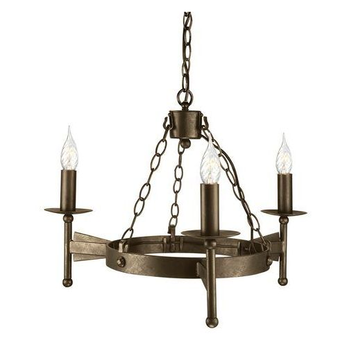 Elstead Średniowieczna lampa wisząca cromwell 3-punktowa
