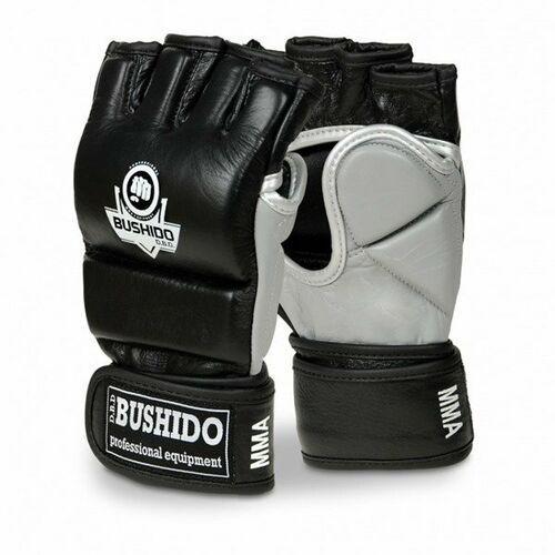 Rękawice treningowe MMA, na worek, skóra, bushido L/XL