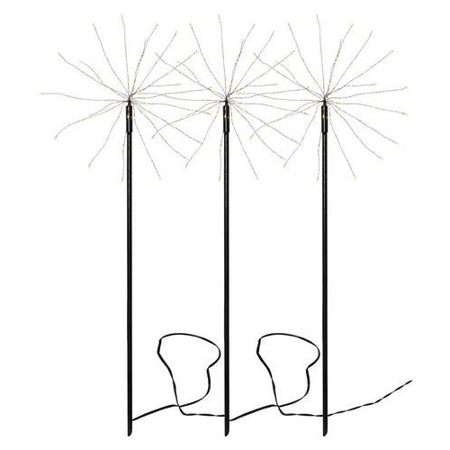 Best season Oświetlenie led firework outdoor 3szt. ciepła biel