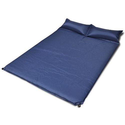 Vidaxl  niebieska, samopompująca się mata, 190 x 130 5 cm (podwójna) (8718475911302)