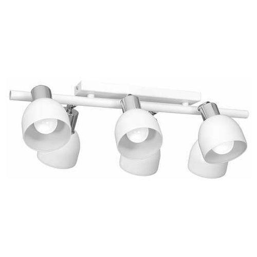 Luminex Fresno 3216 plafon lampa sufitowa spot 6x60W E27 biały/chrom