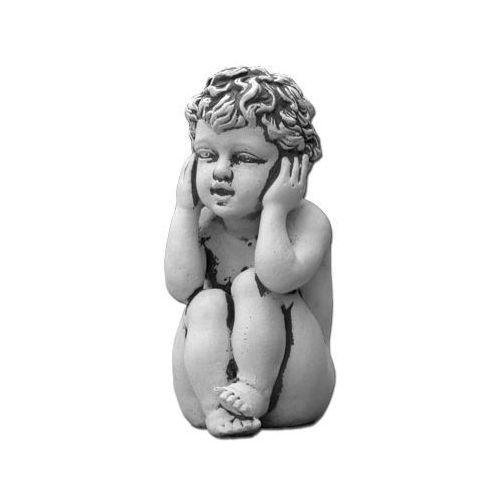 """Figura ogrodowa betonowa dziecko """"nic nie słyszałem"""" 21cm"""