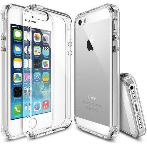 Ringke Fusion etui pokrowiec z żelową ramką iPhone SE / 5S / 5 przezroczysty (RFAP004)