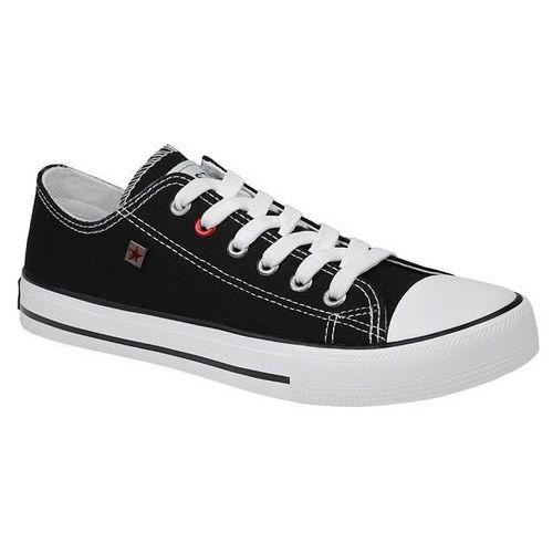 Kultowe Trampki BIG STAR T274023 Czarne - Czarny ||Biały, kolor czarny