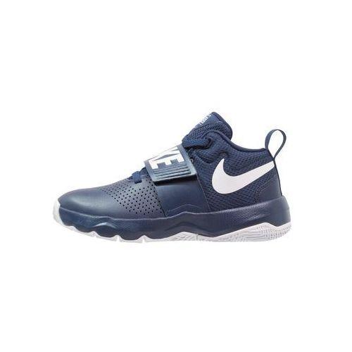 Nike Performance TEAM HUSTLE D 8 (GS) Obuwie do koszykówki midnight navy/white, kolor niebieski - OKAZJE