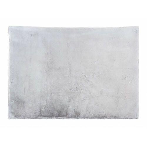 Vente-unique Dywan shaggy z efektem futerka bunny - 100% poliestru - 150 x 200 cm - kolor szary