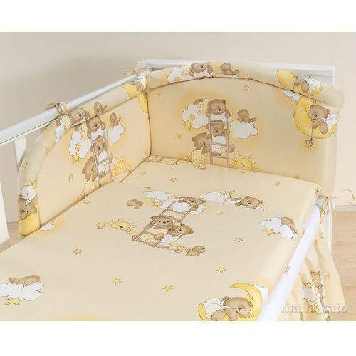 Mamo-tato  pościel 2-el drabinki z misiami na kremowym tle do łóżeczka 60x120cm