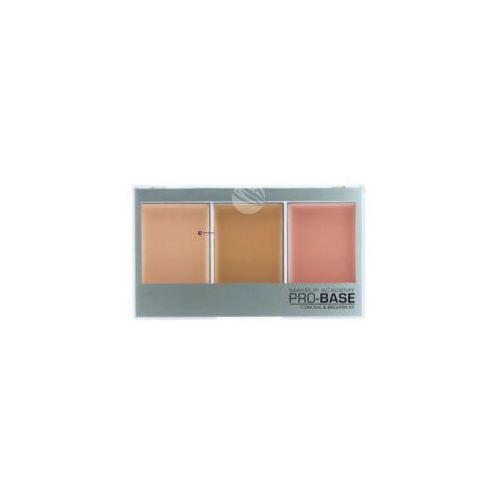 pro-base conceal & brighten kit (w) zestaw 3 korektorów do twarzy beige - golden 11g marki Mua