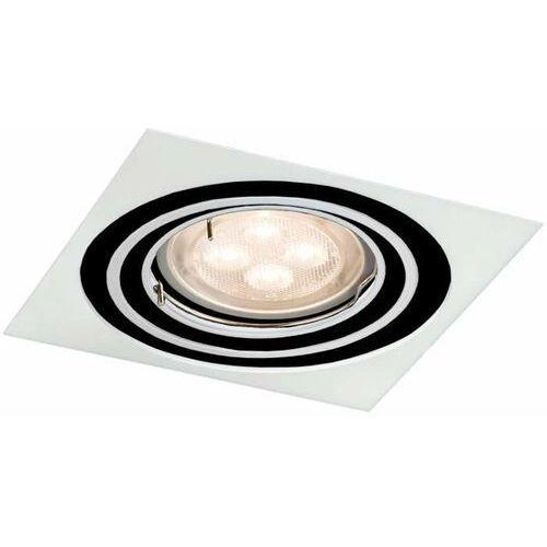 Wpuszczana LAMPA sufitowa OMURA H 7311 Shilo kwadratowa OPRAWA podtynkowa OCZKO regulowane paco białe, 7311
