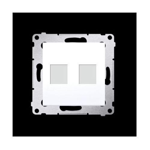 Pokrywa gniazd teleinformatycznych na keystone płaska podwójna (moduł); biały marki Kontakt-simon