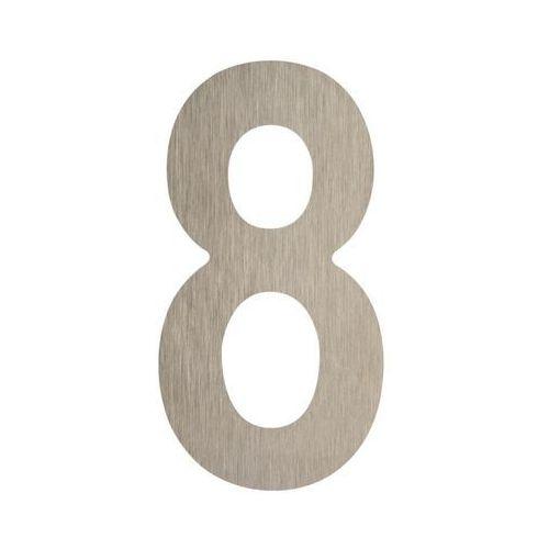 Cyfra 8 wys. 5 cm metalowa srebrna