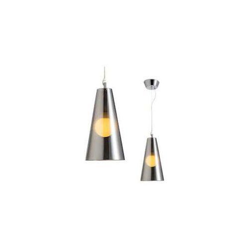 LAMPA wisząca GABIN R10524 Redlux szklana OPRAWA zwis stożek chrom, R10524