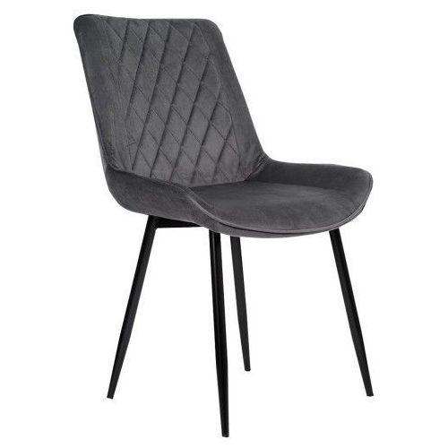 Meblemwm Krzesło tapicerowane dc-6020 popiel welur