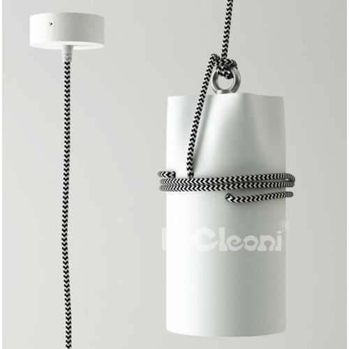 Cleoni Lampa wisząca uran z zielonym przewodem żarówka led gratis!, 1296z1d+