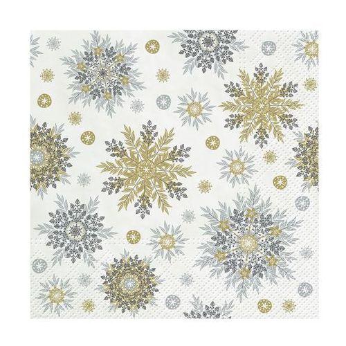 Serwetki świąteczne SNOWFLAKES SILVER 33 x 33 cm 20 szt.