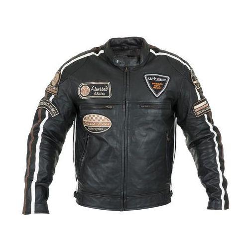 Męska skórzana kurtka motocyklowa sheawen, czarny, l marki W-tec