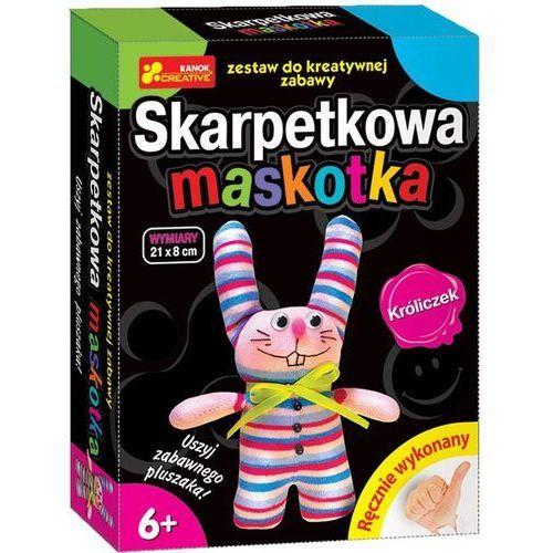 Handmade - Skarpetkowa maskotka. Króliczek