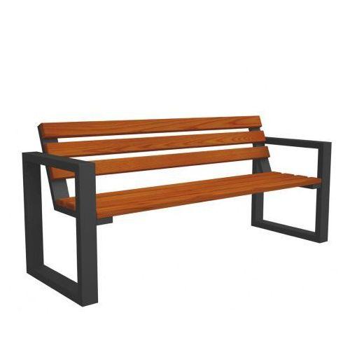 Drewniana ławka parkowa Norin Gray 150cm - 8 kolorów
