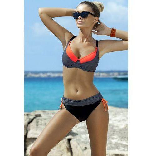 Kostium dwuczęściowy Model Rafaella Black/Coral