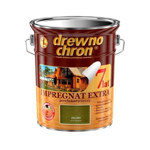 Impregnat Extra Powłokotwórczy Zielony 4,5L Drewnochron, 364439