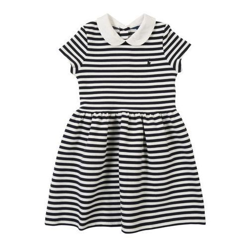 POLO RALPH LAUREN Sukienka 'STRUCTURED KNIT-STRIPE DRESS-DR-KNT' granatowy, kolor niebieski