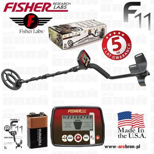 """Fisher research labs Wykrywacz metali fisher f11 cewka 7"""" +bateria - gwarancja: 5 lat - uniwersalny: biżuteria, monety, relikty"""