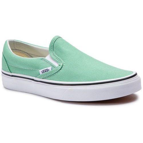 Tenisówki - classic slip-on vn0a38f7vmx1 neptune green/true white marki Vans